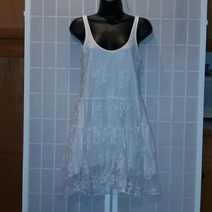 Elodie ANTHROPOLOGIE White Lace Babydoll Dress Xs